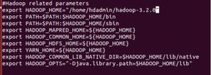 Hadoop env for Apache Hadoop-3.2.0