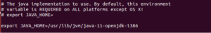 Java_home for OpenJdk 11